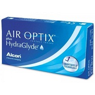 Контактные линзы Air Optix plus HydraGlyde - упаковка 3 шт.